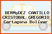 BERMºDEZ CANTILLO CRISTOBAL GREGORIO Cartagena Bolívar