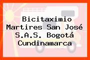 Bicitaximio Martires San José S.A.S. Bogotá Cundinamarca