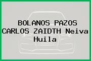 BOLANOS PAZOS CARLOS ZAIDTH Neiva Huila