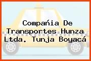 Compañia De Transportes Hunza Ltda. Tunja Boyacá