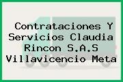 Contrataciones Y Servicios Claudia Rincon S.A.S Villavicencio Meta
