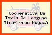 Cooperativa De Taxis De Lengupa Miraflores Boyacá