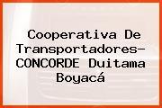 Cooperativa De Transportadores- CONCORDE Duitama Boyacá