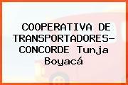COOPERATIVA DE TRANSPORTADORES- CONCORDE Tunja Boyacá