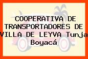 COOPERATIVA DE TRANSPORTADORES DE VILLA DE LEYVA Tunja Boyacá