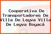 Cooperativa De Transportadores De Villa De Leyva Villa De Leyva Boyacá