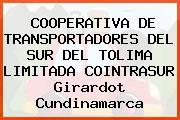 COOPERATIVA DE TRANSPORTADORES DEL SUR DEL TOLIMA LIMITADA COINTRASUR Girardot Cundinamarca