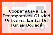 Cooperativa De Transportes Ciudad Universitaria De Tunja Boyacá