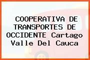 COOPERATIVA DE TRANSPORTES DE OCCIDENTE Cartago Valle Del Cauca