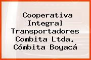 Cooperativa Integral Transportadores Combita Ltda. Cómbita Boyacá