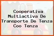 Cooperativa Multiactiva De Transporte De Tenza Coo Tenza