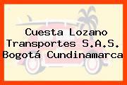 Cuesta Lozano Transportes S.A.S. Bogotá Cundinamarca