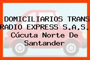 DOMICILIARIOS TRANS RADIO EXPRESS S.A.S. Cúcuta Norte De Santander