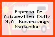 Empresa De Automoviles Cádiz S.A. Bucaramanga Santander