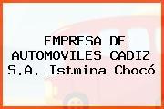 EMPRESA DE AUTOMOVILES CADIZ S.A. Istmina Chocó