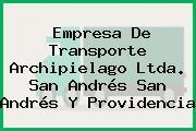 Empresa De Transporte Archipielago Ltda. San Andrés San Andrés Y Providencia
