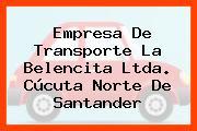 Empresa De Transporte La Belencita Ltda. Cúcuta Norte De Santander