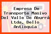 Empresa De Transporte Masivo Del Valle De Aburrá Ltda. Bello Antioquia