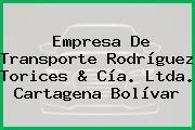 Empresa De Transporte Rodríguez Torices & Cía. Ltda. Cartagena Bolívar