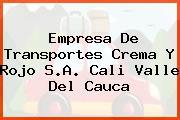 Empresa De Transportes Crema Y Rojo S.A. Cali Valle Del Cauca