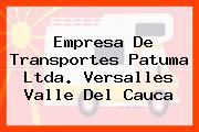 Empresa De Transportes Patuma Ltda. Versalles Valle Del Cauca