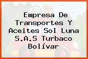 Empresa De Transportes Y Aceites Sol Luna S.A.S Turbaco Bolívar