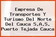 Empresa De Transportes Y Turismo Del Norte Del Cauca S.A.S. Puerto Tejada Cauca