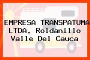 EMPRESA TRANSPATUMA LTDA. Roldanillo Valle Del Cauca