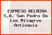 EXPRESO BELMIRA S.A. San Pedro De Los Milagros Antioquia