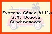 Expreso Gómez Villa S.A. Bogotá Cundinamarca