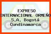EXPRESO INTERNACIONAL ORMEÑO S.A. Bogotá Cundinamarca