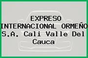 EXPRESO INTERNACIONAL ORMEÑO S.A. Cali Valle Del Cauca