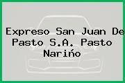Expreso San Juan De Pasto S.A. Pasto Nariño