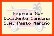 Expreso Sur Occidente Sandona S.A. Pasto Nariño