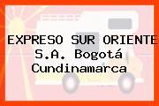 EXPRESO SUR ORIENTE S.A. Bogotá Cundinamarca