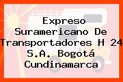 Expreso Suramericano De Transportadores H 24 S.A. Bogotá Cundinamarca