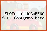 FLOTA LA MACARENA S.A. Cabuyaro Meta