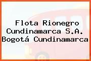 Flota Rionegro Cundinamarca S.A. Bogotá Cundinamarca