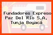 Fundadores Expreso Paz Del Río S.A. Tunja Boyacá