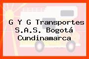 G Y G Transportes S.A.S. Bogotá Cundinamarca