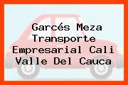 Garcés Meza Transporte Empresarial Cali Valle Del Cauca