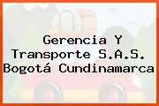 Gerencia Y Transporte S.A.S. Bogotá Cundinamarca