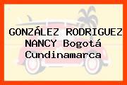GONZÁLEZ RODRIGUEZ NANCY Bogotá Cundinamarca