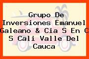 Grupo De Inversiones Emanuel Galeano & Cia S En C S Cali Valle Del Cauca