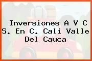 Inversiones A V C S. En C. Cali Valle Del Cauca