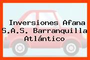 Inversiones Afana S.A.S. Barranquilla Atlántico