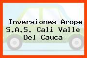 Inversiones Arope S.A.S. Cali Valle Del Cauca
