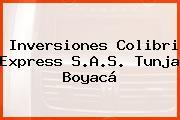 Inversiones Colibri Express S.A.S. Tunja Boyacá