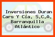Inversiones Duran Cars Y Cía. S.C.A. Barranquilla Atlántico