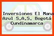 Inversiones El Mana Azul S.A.S. Bogotá Cundinamarca